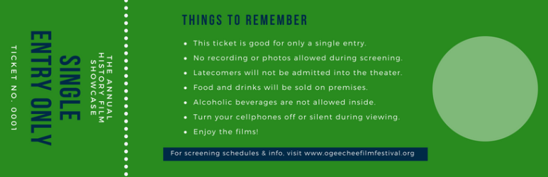 Dark Blue Photo Modern Film Festival Event Ticket